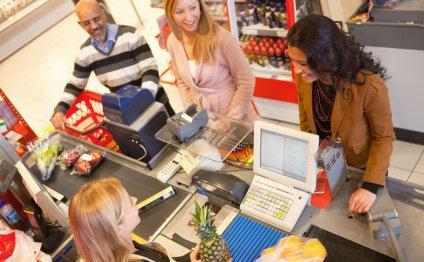 Супермаркет checkout счетчики